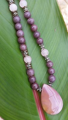 Succor creek jasper pendant necklace & earring set
