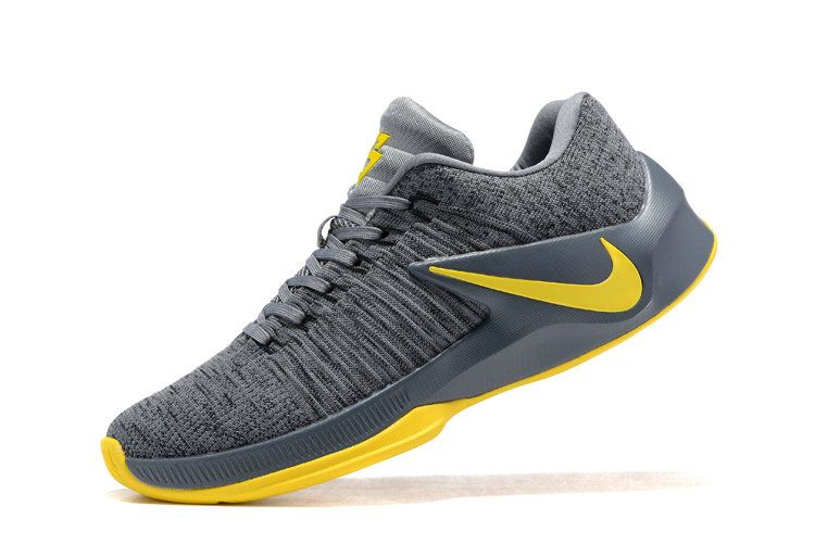 2017 Nike Zoom Clear Out Low Draymond Green Cool Grey Wolf Grey University Gold Draymond Green Shoes 2017