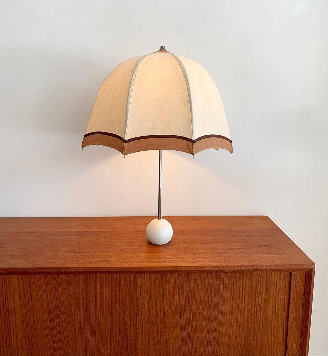 1975 George Kovacs Umbrella Table Lamp Sold Rarefied Kovacs Georgekovacs 1970s 1975 Umbrella Umbrellalamp Hom Lamp Vintage Lighting Table Lamp