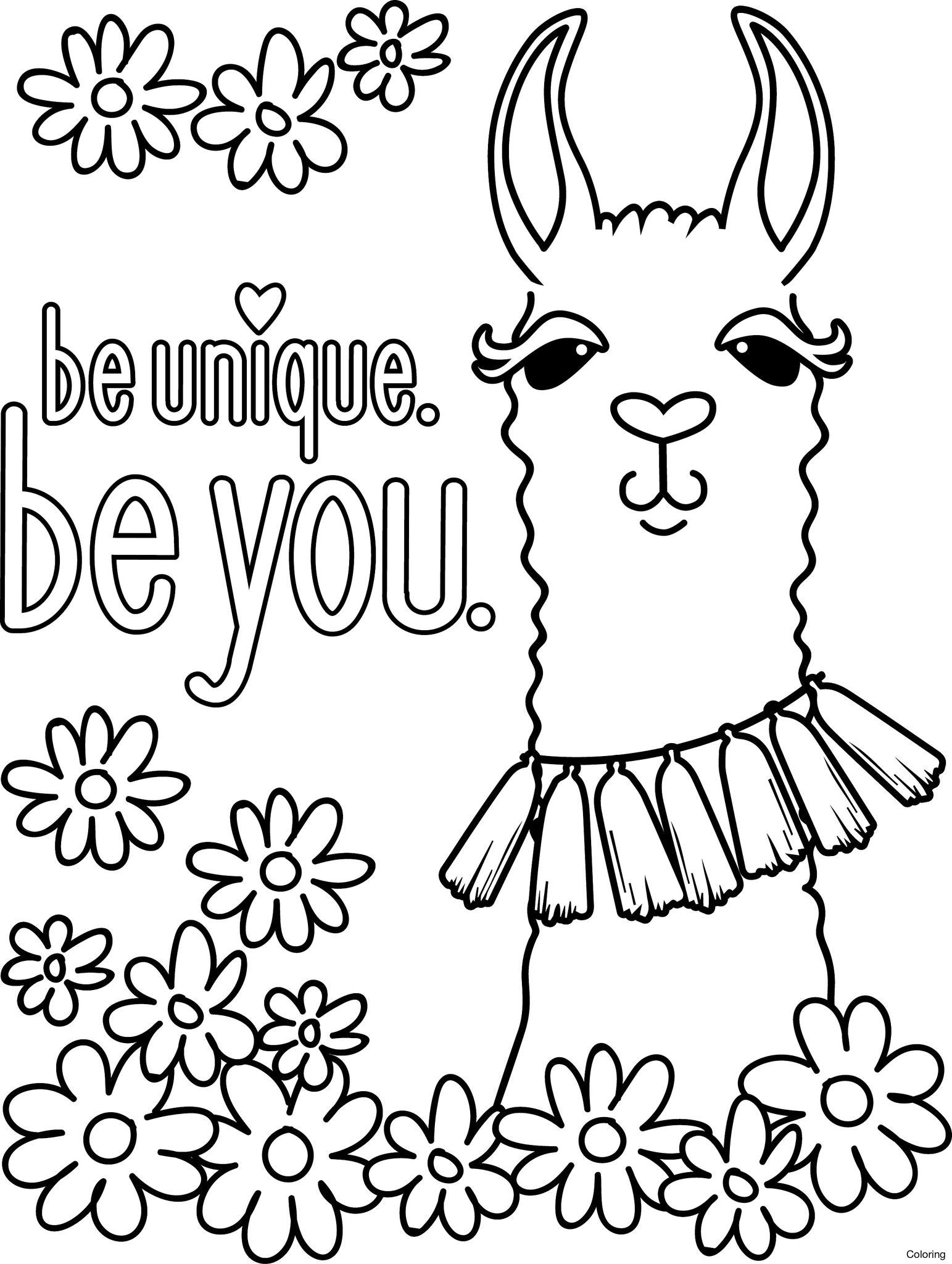 Animal Llama Print Coloring Pages 5f Funny Of Free Diaiz Girl