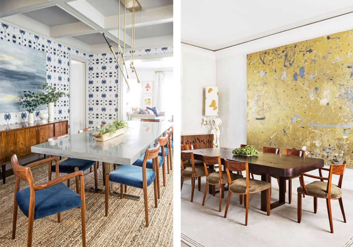 Whether you decide to go with a patterned wallpaper or largescale