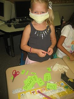 contraction surgery... the masks make the lesson