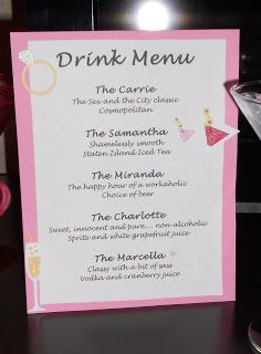 Hen Party Drinks Ideas Awesome Bachelorette Party Bridal Shower Party Bachelorette Party