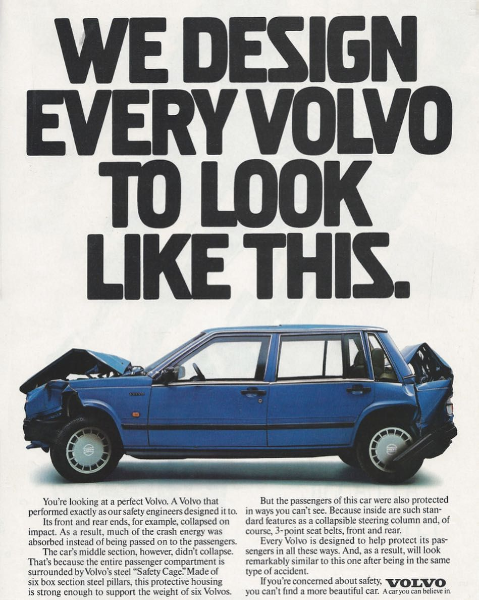 This 1970's Volvo add advertising marketing online RT