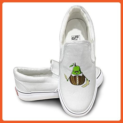 91f78314da5c EWIED Unisex Classic Shakespeare Like Pears Slip-On Shoes White Size44 -  Loafers and slip ons for women ( Amazon Partner-Link)
