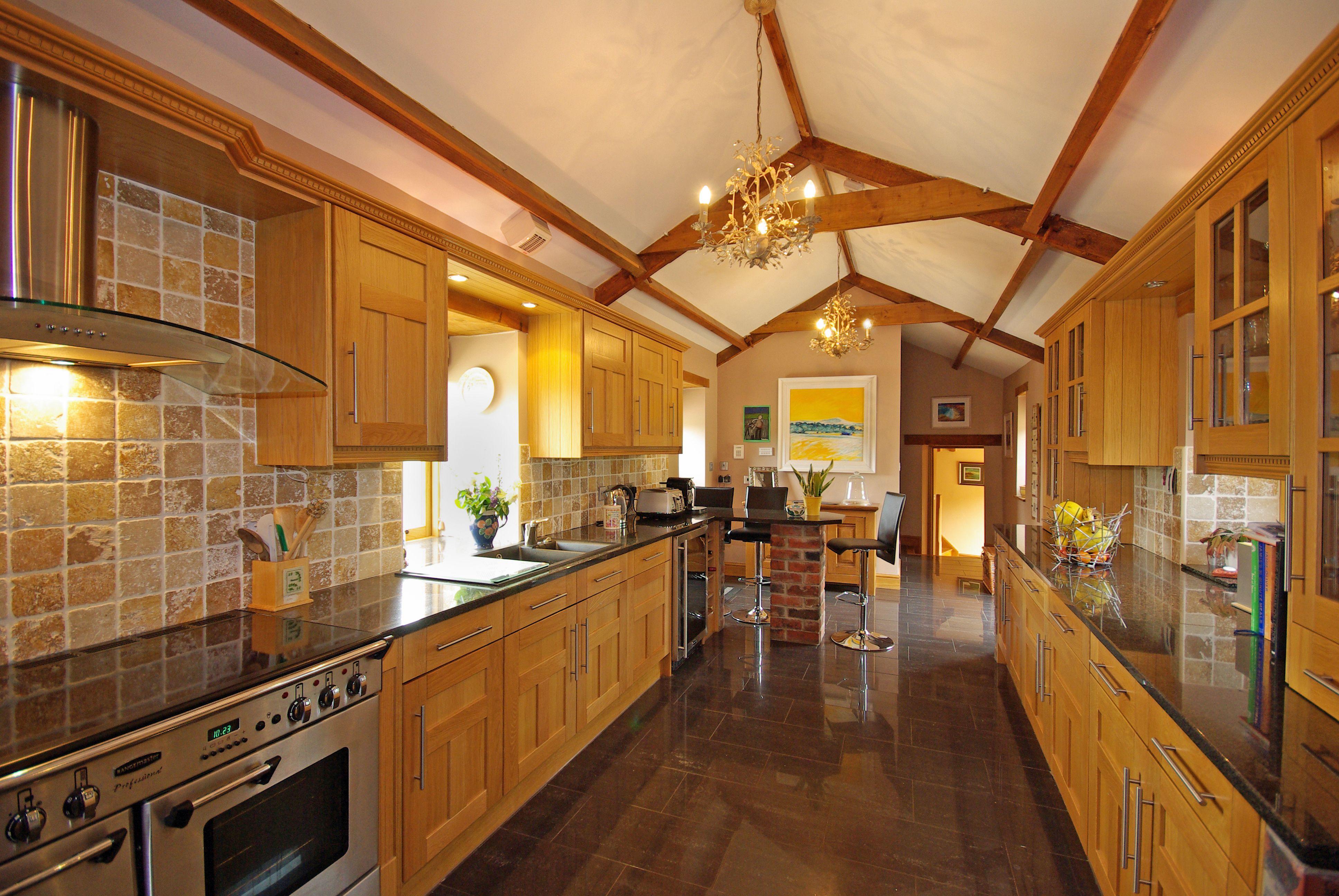 The Kitchen at Glen Court Barn, Usk superb barn