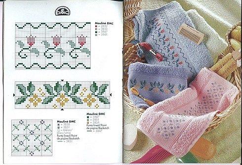 Uncinetto e ricamo facile le bordure punti e spunti for Schemi bordure uncinetto per lenzuola