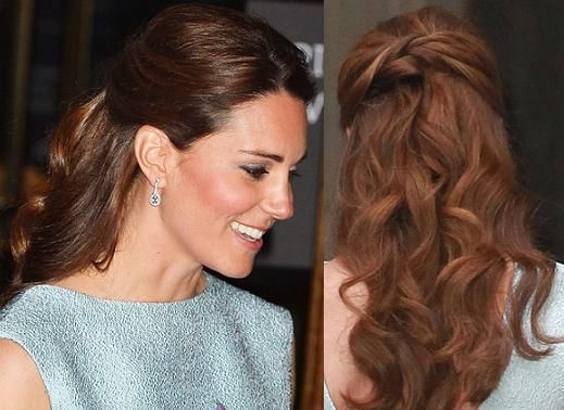Trend Summer Hairstyle Kate Middleton S Half Up Curls Kate Middleton Hair Half Up Hair Hairstyle