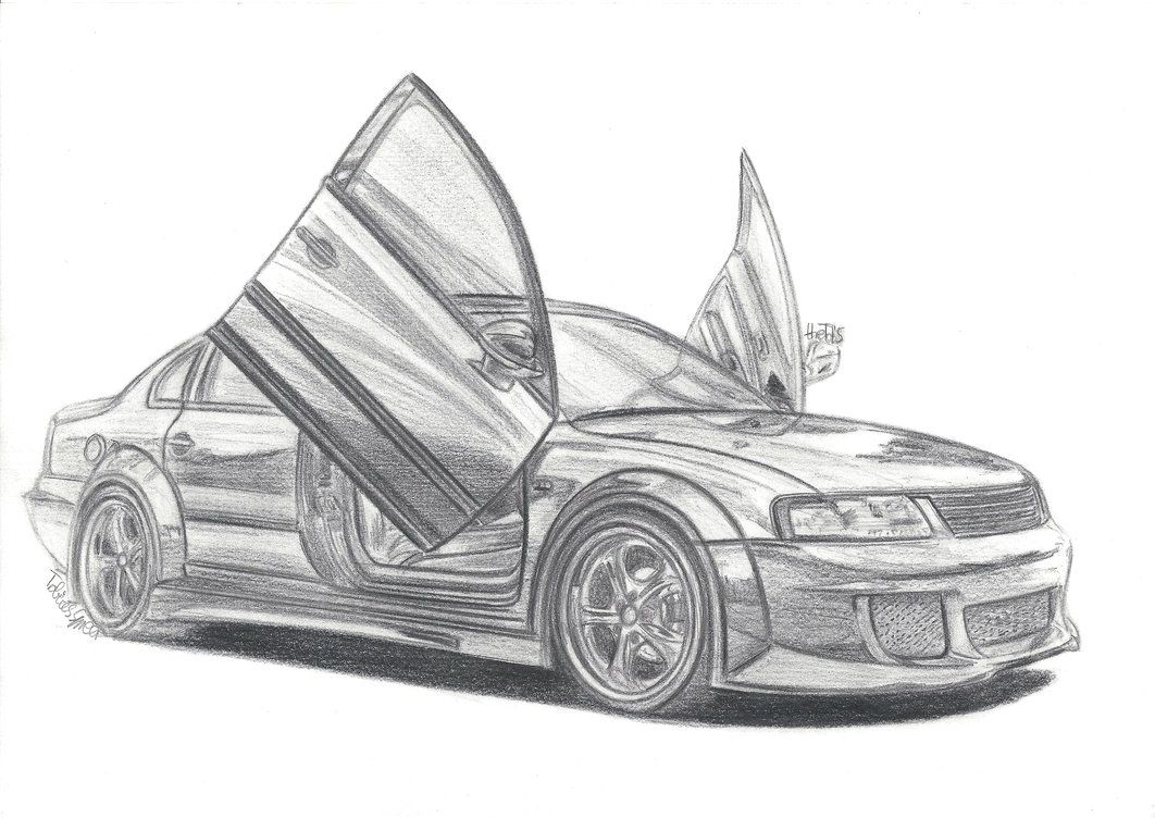Cool Lowrider Cars Drawings | ... view of muscle car ...
