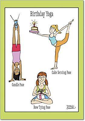 Auguri Di Natale Yoga.4397 Birthday Yoga Funny Birthday Card With Envelope Yoga
