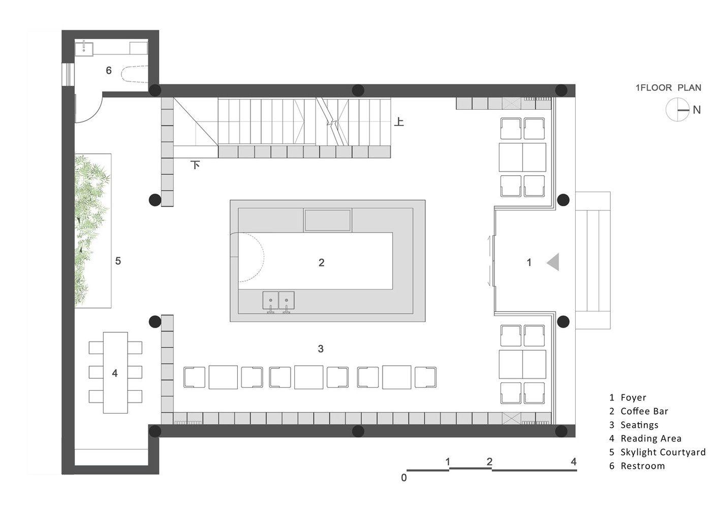 Gallery Of Rong Bao Zhai Coffee Bookstore Archstudio 1 Cafe Floor Plan Floor Plans Coffee Shop Design