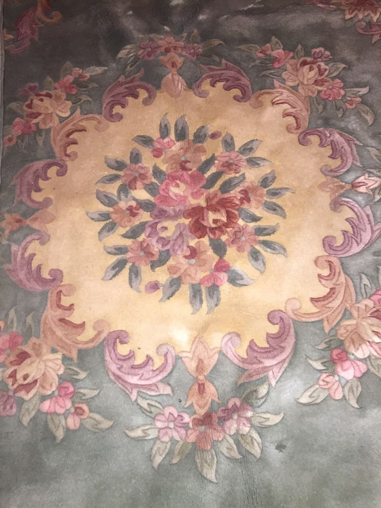 Magnificent Vintage Chinese Rug Mint Pinks Mauve Lavender Quality 8x10 Tapetes
