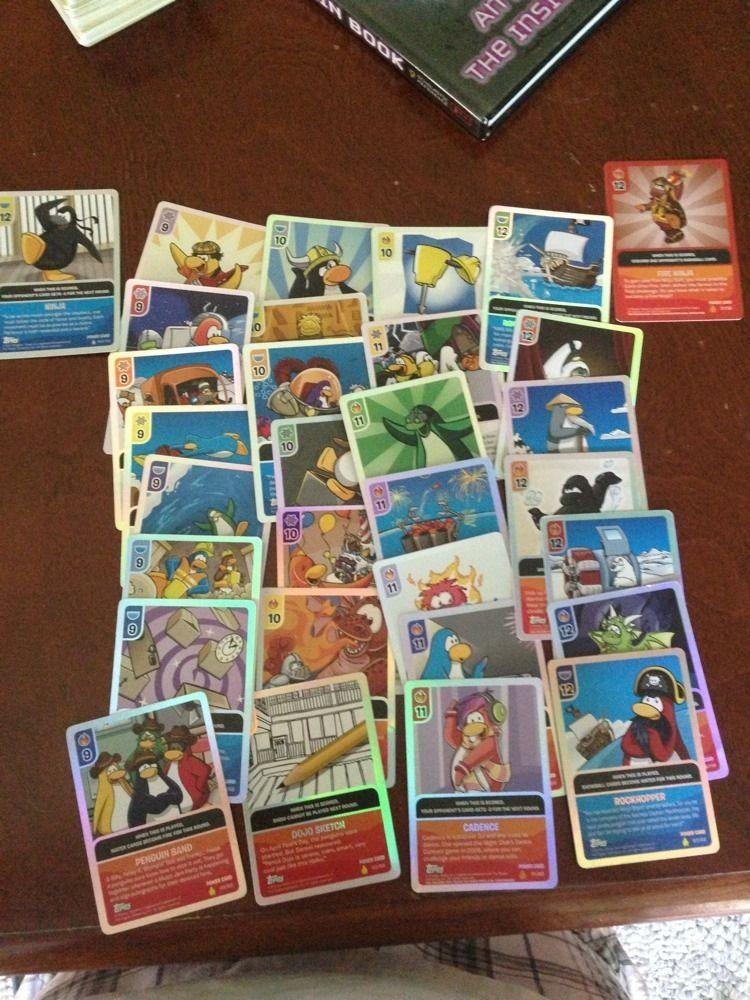 Club Penguin 31 RARE Power Cards Disney collectables, Cards