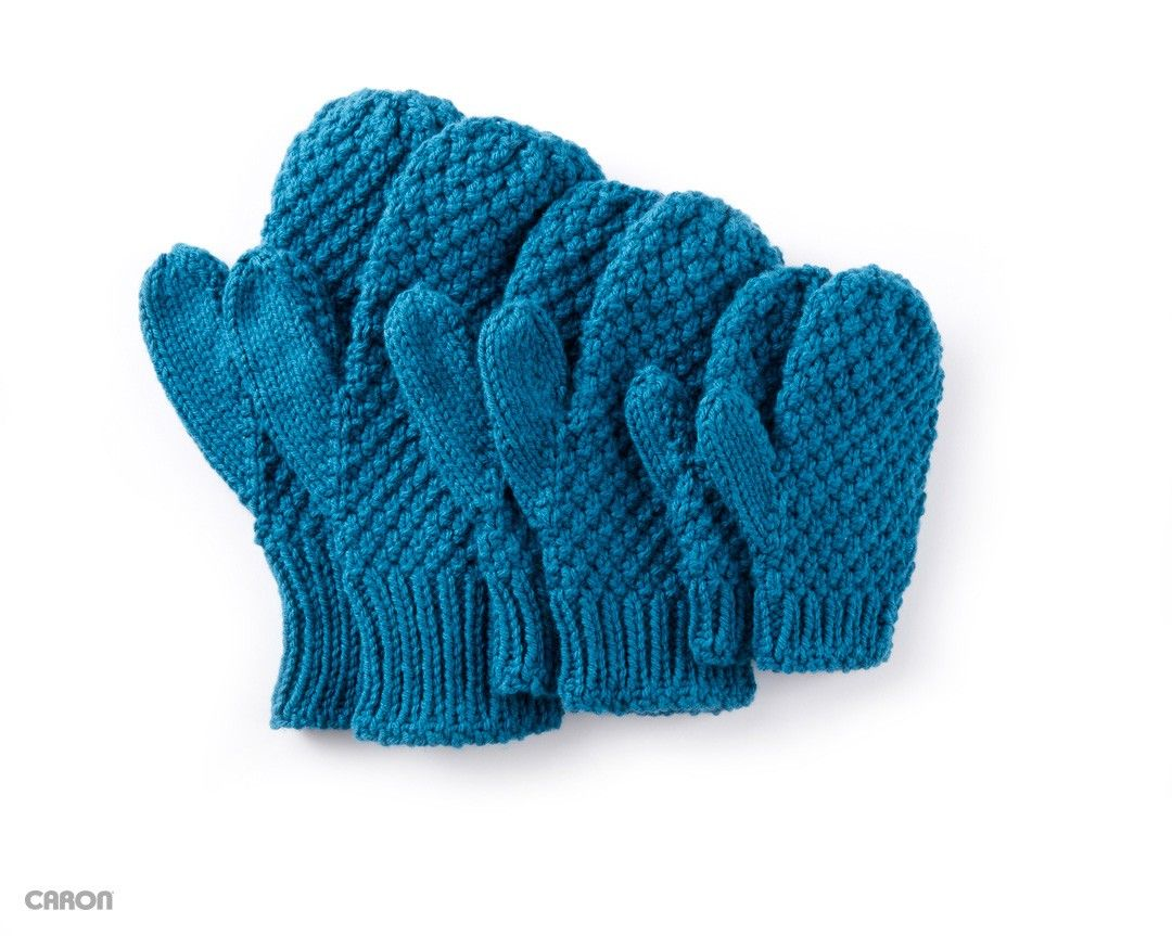 Textured Family Knit Mittens | Mitts and gloves patterns | Pinterest ...