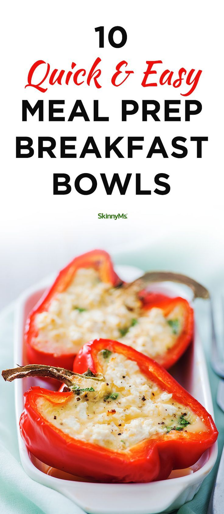 10 Quick & Easy Meal Prep Breakfast Bowls images