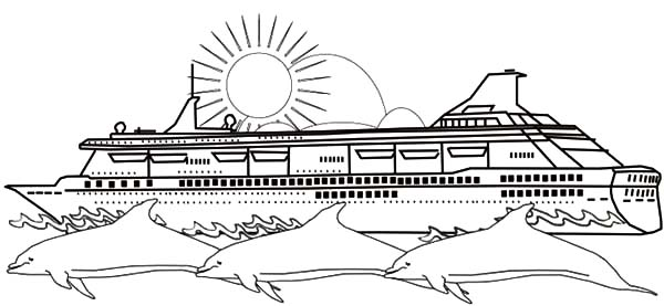 Cruise Ship And Three Dolphins Coloring Pages Netart Dolphin Coloring Pages Coloring Pages Paw Patrol Coloring