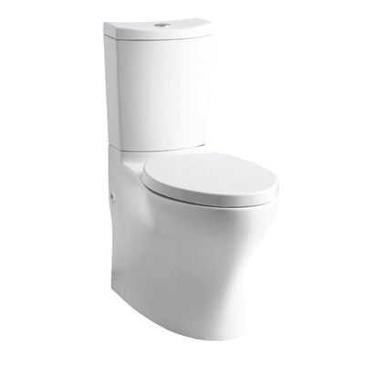 Kohler Persuade Comfort Height 2 Piece 1 6 Gpf Elongated Toilet Finish White Dual Flush Toilet Toilet Bathroom Collections