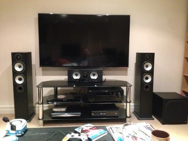 my setup samsung 55 tv sony s570 blu ray apple tv yamaha av receiver sky hd xbox one. Black Bedroom Furniture Sets. Home Design Ideas