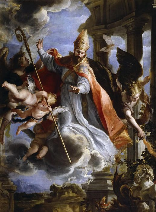 The Triumph Of St Augustine Claudio Coello Painting Art