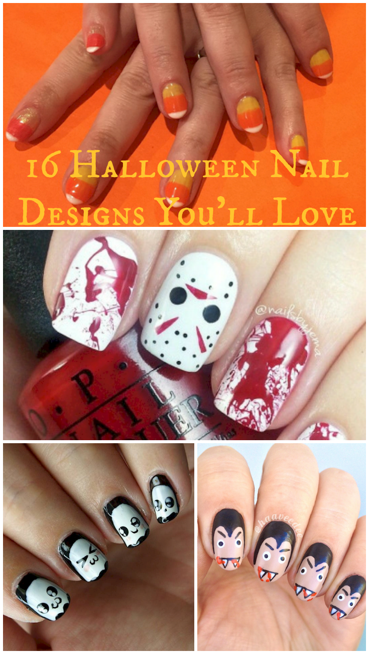 16 Halloween Nails For The Spookiest Night Of The Year | Art themes ...