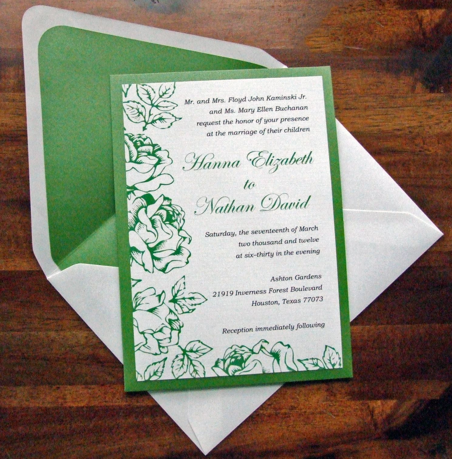 Spring Green #wedding invitations & stationery ... Wedding ideas for ...