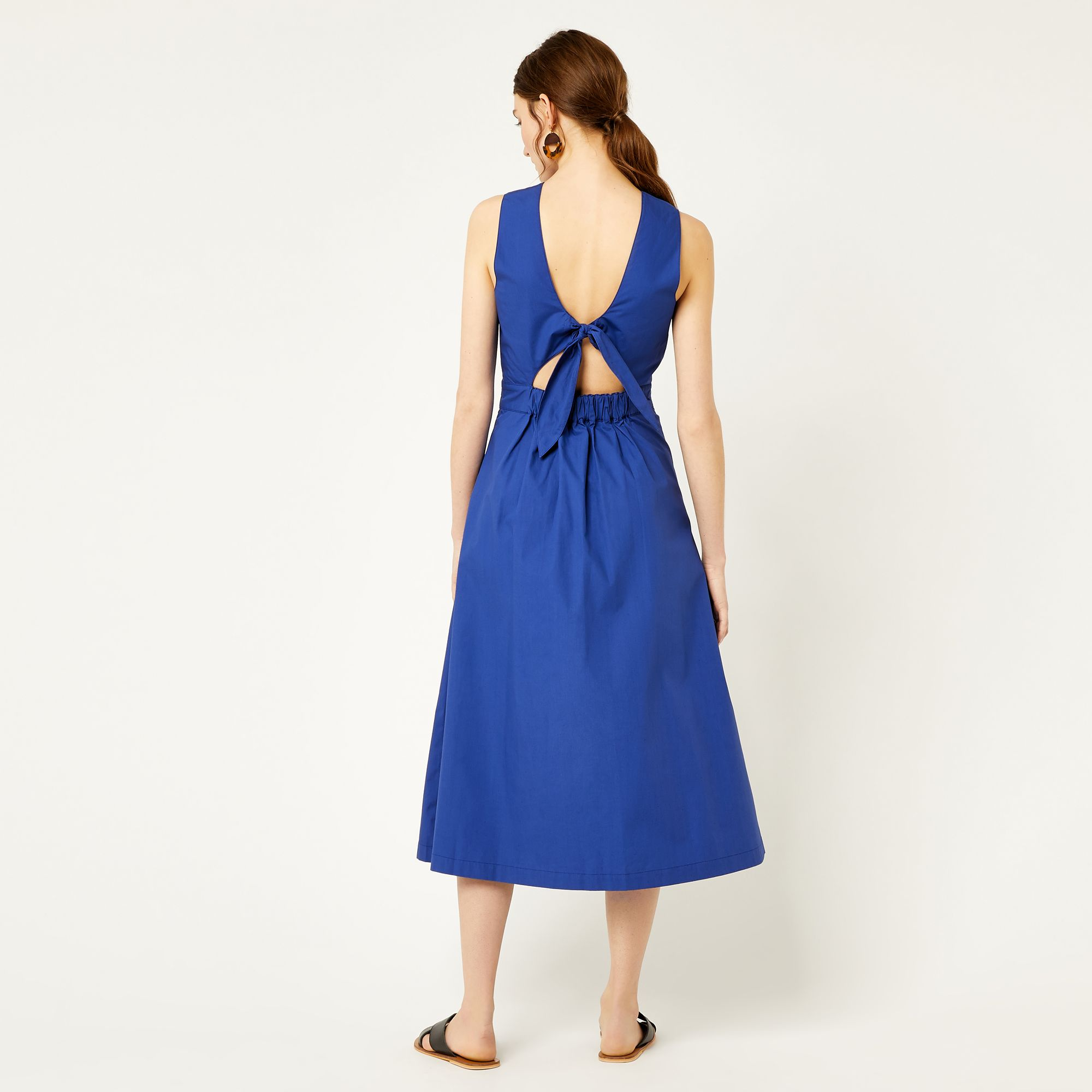7a4b9d6d39c9 Cotton tie back midi dress   Spring / Summer 2018   Dresses, Midi ...