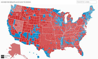 Common Cents Us 2012 Election Results Map By County