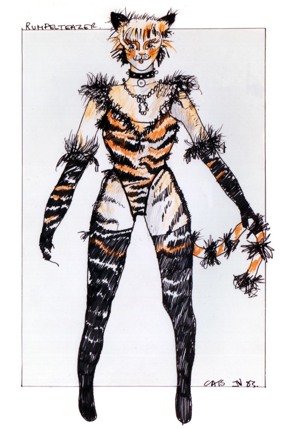 I Featured John Napier S Art For Starlight Express 1986 Recently These Are His Designs For Andrew Lloyd Cats The Musical Costume Jellicle Cats Costume Design