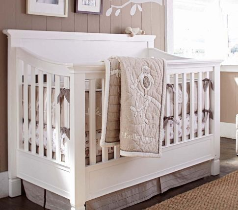 Larkin 4 In 1 Crib With Water Base Finish Simply White 4 In 1 Crib Pottery Barn Crib Cribs