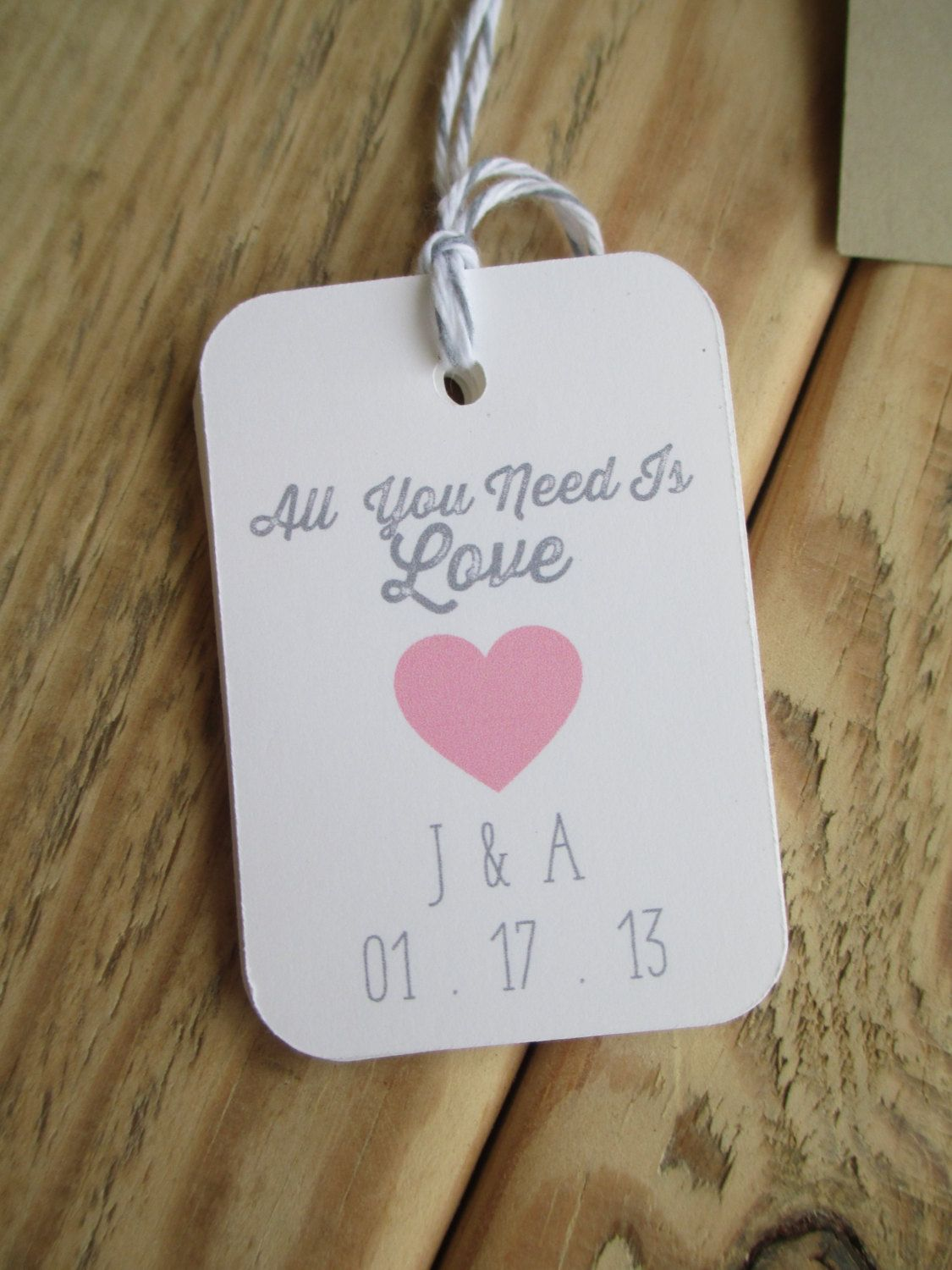 All You Need Is Love Wedding Favor Tags by angieheartsjared, $30.00 ...