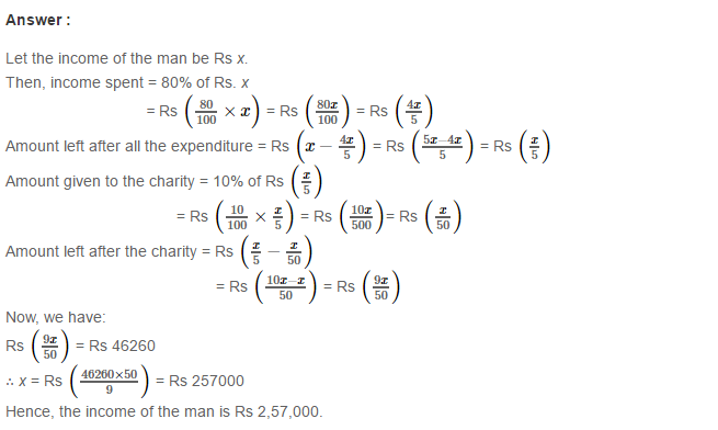 Percentage RS Aggarwal Class 7 CBSE Maths Solutions Exercise 10B ...
