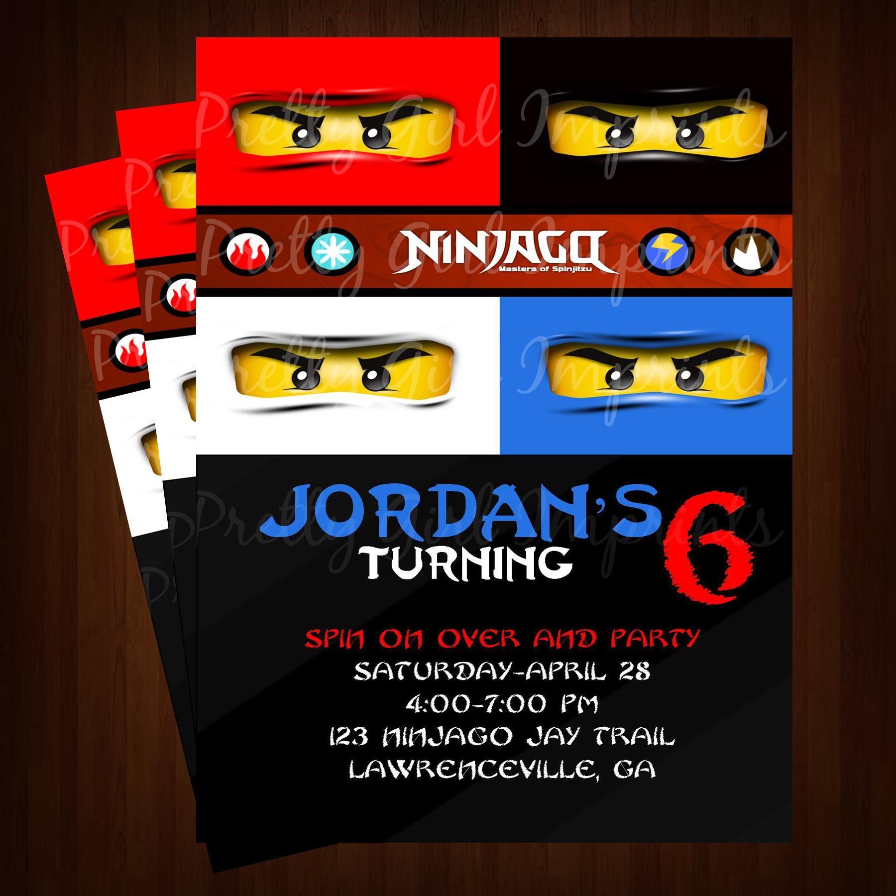 Ninjago Birthday Invitations Free Home Boy Invitations Lego