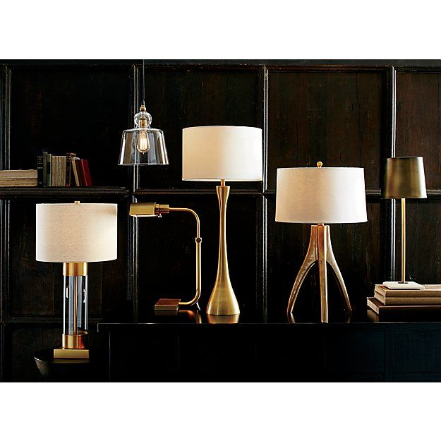 Avenue Brass Table Lamp with USB Port | Brass table lamps