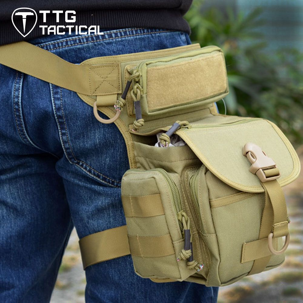 Drop Leg Bag Mens Pouch Tactical Military Waist Pack Leg Rig Utility Motorcycle Riding Versipack Outdoor Bag