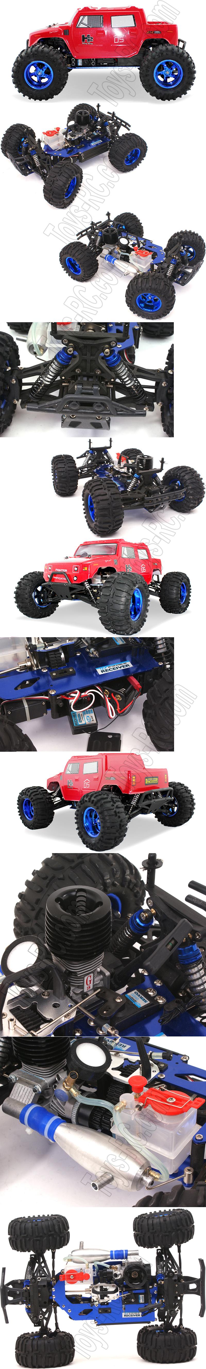 Hummer car toys  HengLong  Triumph Hummer WD CXP Engine Nitro RC Truck