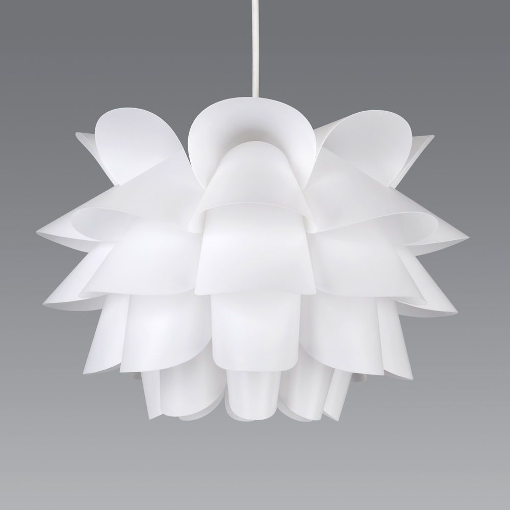 Modern white artichoke style funky ceiling pendant light shade modern white artichoke style funky ceiling pendant light shade fitting lights aloadofball Image collections