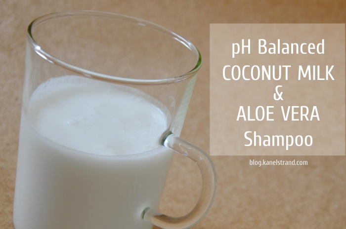 Shampoo Review: Coconut Milk and Aloe Vera Homemade Shampoo: Coconut Milk and Aloe Vera 2.5 oz coconut, 3 oz aloe vera.  Might be greasy.  Maybe a once in a while treatment in combo with rye flour.Homemade Shampoo: Coconut Milk and Aloe Vera 2.5 oz coconut, 3 oz aloe vera.  Might be greasy.  Maybe a once in a while treatment in combo with rye flour.