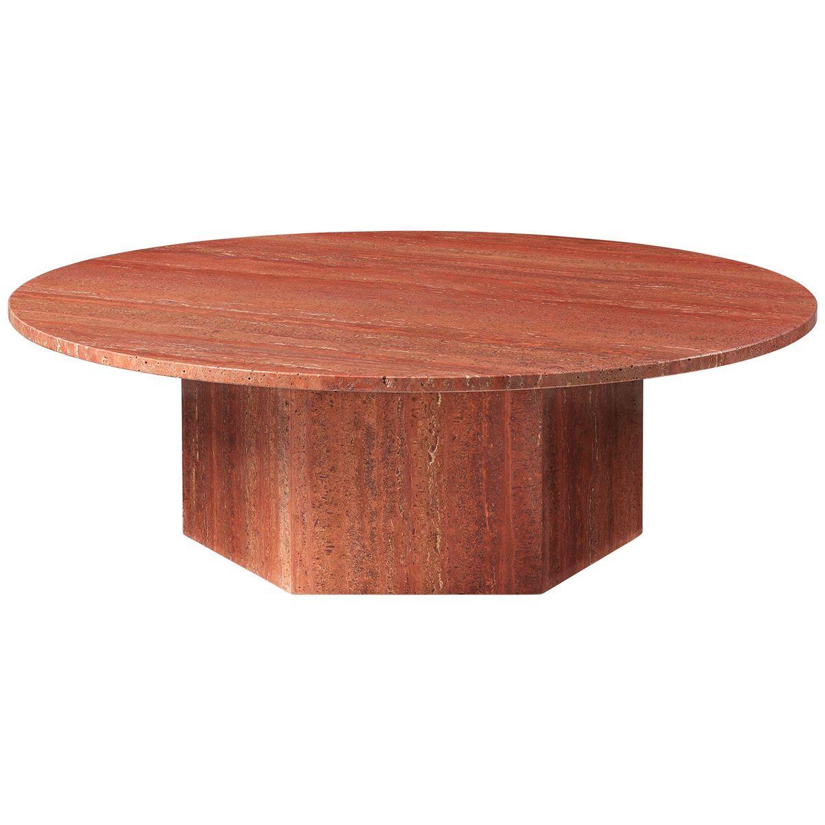 Gubi Epic Coffee Table Round 110 Cm Red Travertin Stone Coffee Table Coffee Table Gubi Beetle Dining Chair [ 1200 x 1200 Pixel ]