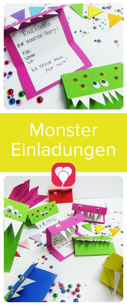 balloonasblog einfache kreative ideen rund um den kindergeburtstag monster party. Black Bedroom Furniture Sets. Home Design Ideas