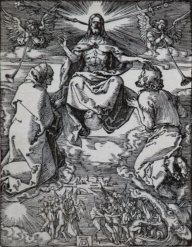 albrecht durer | Albrecht Durer Woodcut, The Last Judgment (The Small Passion), c.1510