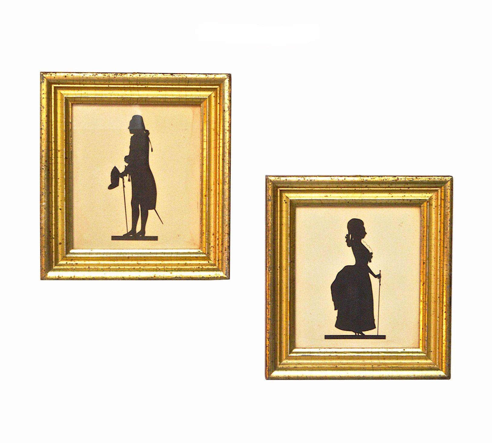 Borghese Framed Silhouette Pair   Antiques &Collectibles   Pinterest ...