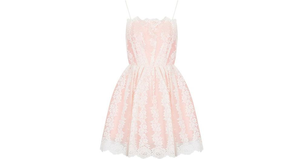 916107f3359a1 Topshop Petite Strappy Lace Prom Dress Pink Size UK 12 rrp 50 DH079 ii 20  #fashion #clothing #shoes #accessories #womensclothing #dresses (ebay link)