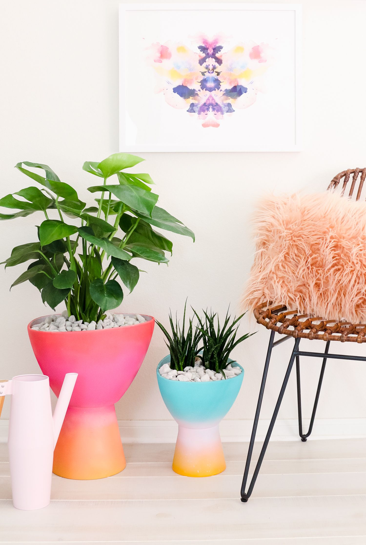 make your own gradient planters a beautiful mess bloglovin