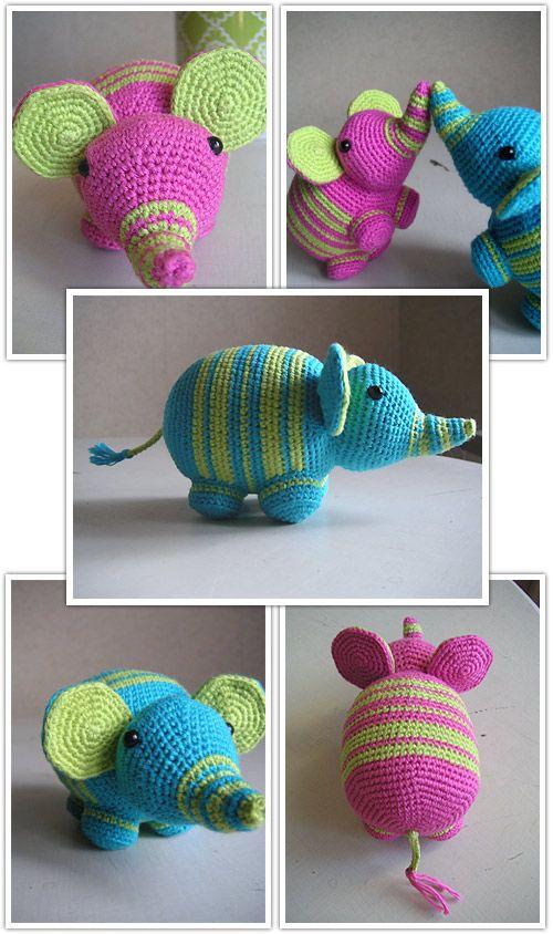 Free amigurumi elephant pattern in swedish from stjernfalls blogg