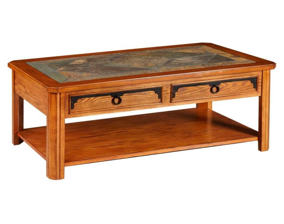 Broyhill Furniture Quail Valley Lift Top Cocktail Table With Slate