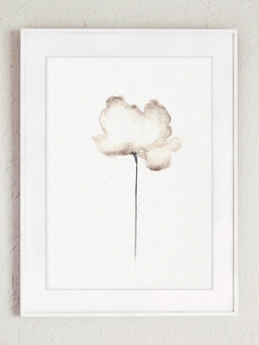 Jeu de 2 tirage d'Art deux coquelicots fleur par ColorWatercolor