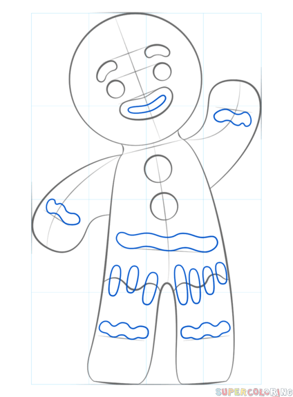 How To Draw A Gingerbread Man Step By Step Drawing Tutorials For Kids And Beginners Drawing Tutorial Xmas Drawing Drawing For Beginners