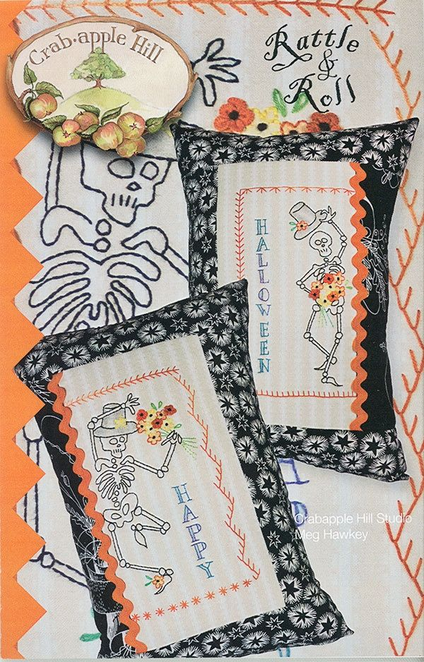 SUMMER SAMPLER PILLOW HAND EMBROIDERY PATTERN From Crabapple Hill Studio NEW