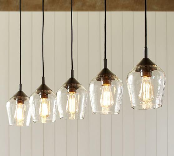 Pottery Barn Ceiling Light Fixtures: Donovan Glass 5-Light Pendant