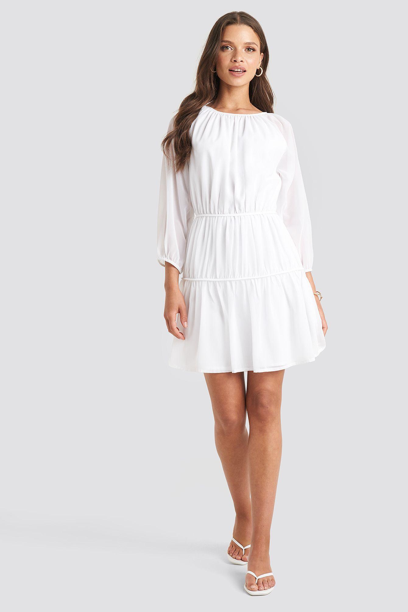 Photo of Drapert A-foret Chiffon kjole